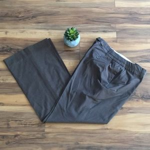LOFT Julie Dark Taupe/Brown Dress Pants/Trousers